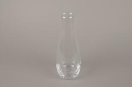 B553W3 Vase en verre obus D10cm H25cm