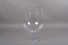 B558W3 Vase en verre sur pied D32cm H60cm