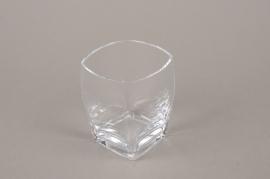 B562W3 Square glass vase  7.5cm x 7.5cm H10cm