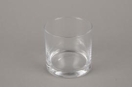 B569W3 Vase en verre cylindre D9cm H9cm
