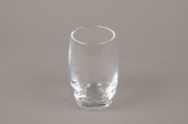 B572W3 Glass vase D6cm H10.5cm