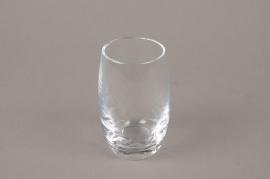 B572W3 Vase en verre obus D6cm H10.5cm