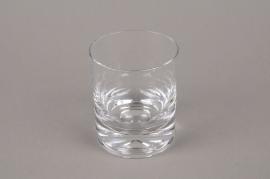 B575W3 Vase en verre cylindre D7.5cm H9cm