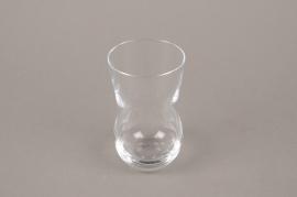 B577W3 Vase en verre soliflore évasé D5.5cm H10.5cm