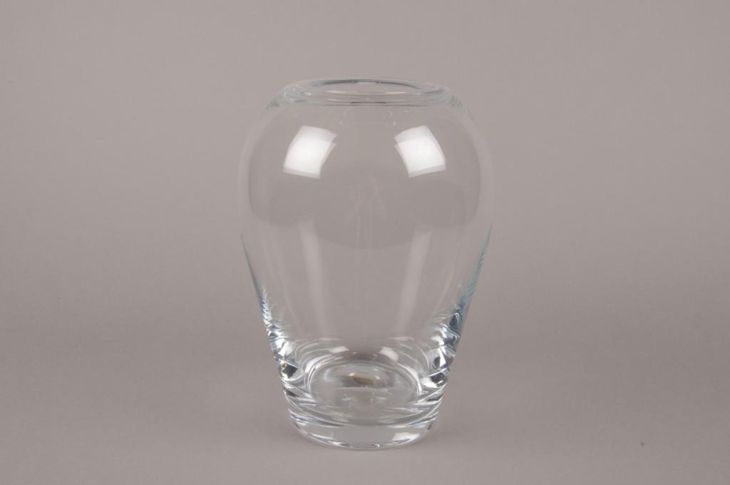 B583W3 Vase en verre obus D16cm H26cm