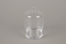 B596W3 Vase en verre D9cm H13.5cm