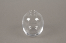 B598W3 Glass single flower vase D7cm H10cm