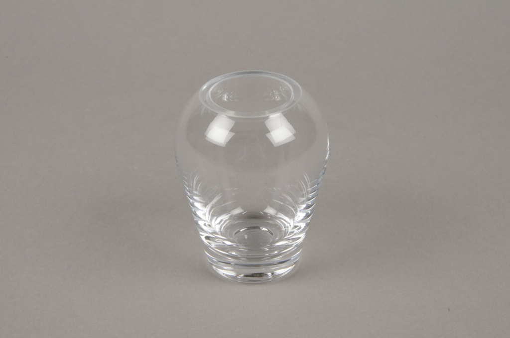 B611W3 Vase en verre obus D7.5cm H9cm