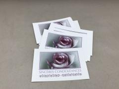 B711MQ Pack of 15 postcards Sincères Condoléances