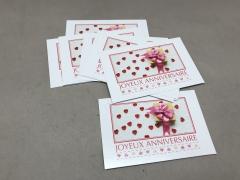 B713MQ Pack of 15 postcards Joyeux Anniversaire