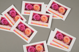 B717MQ Paquet de 15 cartes Joyeux Anniversaire