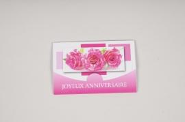 B722MQ Pack of 10 postcards Joyeux Anniversaire