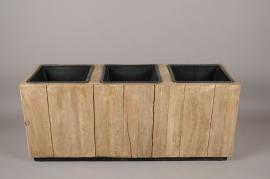 A013AD Bac en bois vielli 34x104cm H43cm