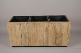 A009AD Bac en bois vielli 34x94cm H42cm