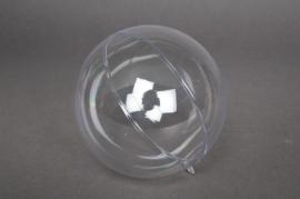 Bag of 10 plastic openable spheres  D6cm