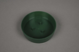 A047T7 Bag of 12 green plastic bowls D10cm H3cm