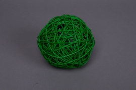 Bag of 12 wicker balls green 5cm