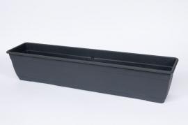 Balconnière en plastique anthracite 50x17x16cm