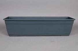 Balconnière en plastique anthracite 80x17x16cm