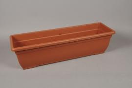 A092NT Balconnière en plastique terracotta 80 x 24cm H21cm
