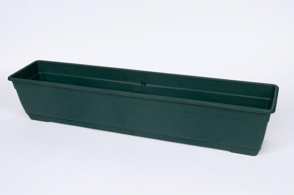 Balconnière en plastique vert 80x17x16cm
