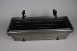 A018SF Balconnière réglable en zinc noir 85x24x18cm
