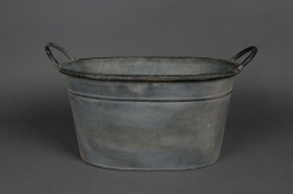 Old looking zinc basin with handle 36x25 H20cm