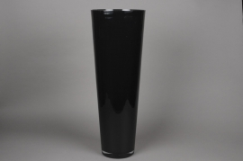 A020I0 Black conical glass vase D22cm H70cm