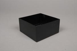 A003BL Black metal pot 10cm x 10cm H5cm