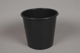 A384MO black plastic bucket cone 4.5L D20 H20cm