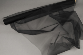 A016GM Black tulle roll 75cm x 10m