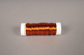 A027MG Bobine de fil de fer orange D0.03mm L50m