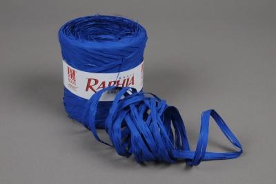 A544ZR Bobine de raphia synthétique bleu roi 200m