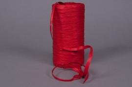 Bobine de raphia synthétique rouge 200m