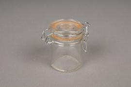 A578QJ Bocal en verre avec couvercle D4.4cm H6cm