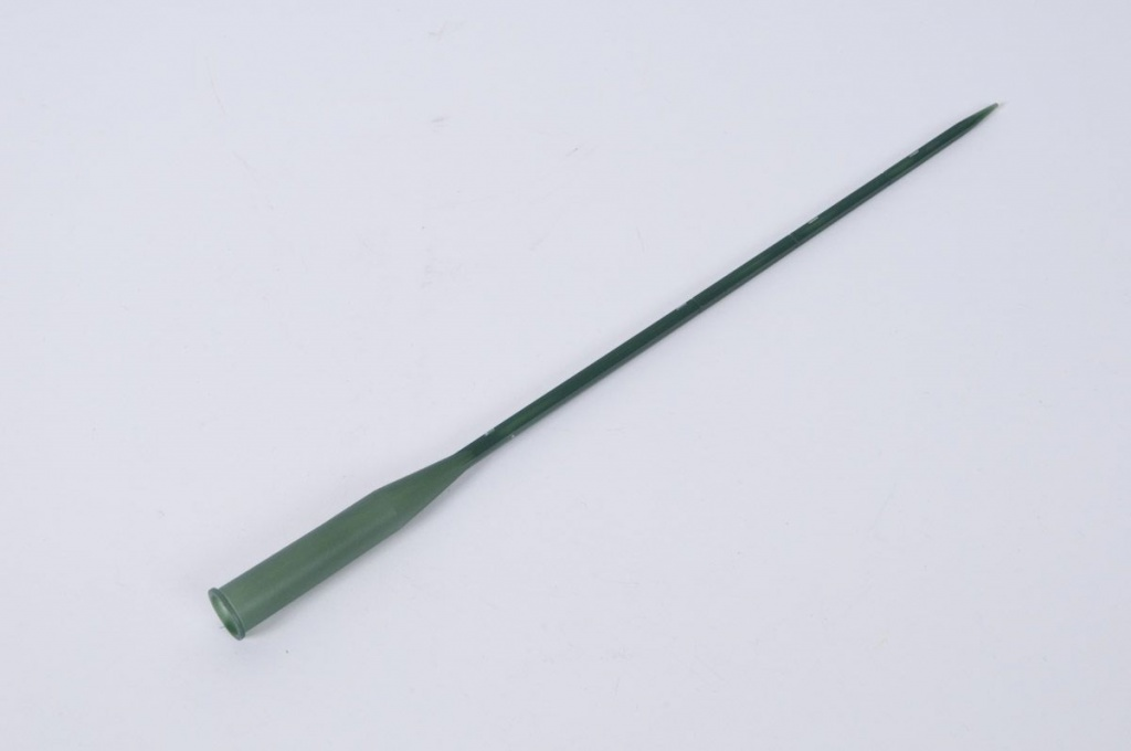 A037MO Boîte de 100 tubes plastique vert sur pic