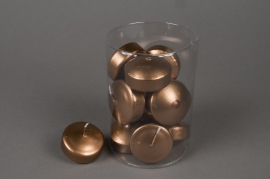 Boîte de 12 bougies flottantes cuivre 5h