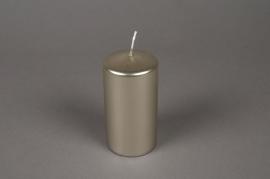 Boîte de 16bougies cylindre perle D6 H12cm