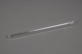 A033K9 Boîte de 20 vase tube en verre D1.5cm H20cm