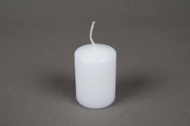 A008E2 Boîte de 24 bougies cylindre blanc D4 H6cm