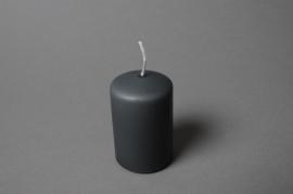 A123E2 Boîte de 24 bougies cylindre gris D5cm H8cm
