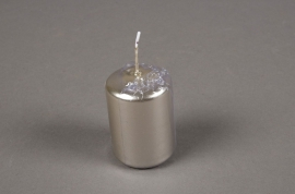 Box of 24 candles pearl D4cm H6cm