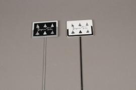 X003D0 Boîte de 24 pics JOYEUSES FETES 7.5 x 5.5cm