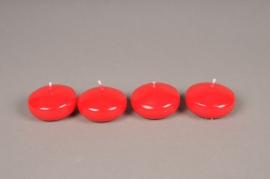 A011IR Boîte de 25 bougies flottantes rouge