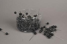 A109MG Boîte de 250 perles sur épingle noir 10x60mm