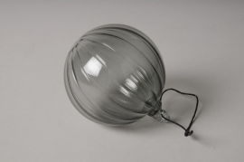 Boite de 3 boules en verre transparent ou rouge D8cm