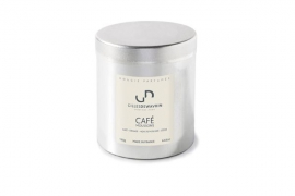 Box of 4  scented candles in metal boxes CAFÉ MOUSSONS