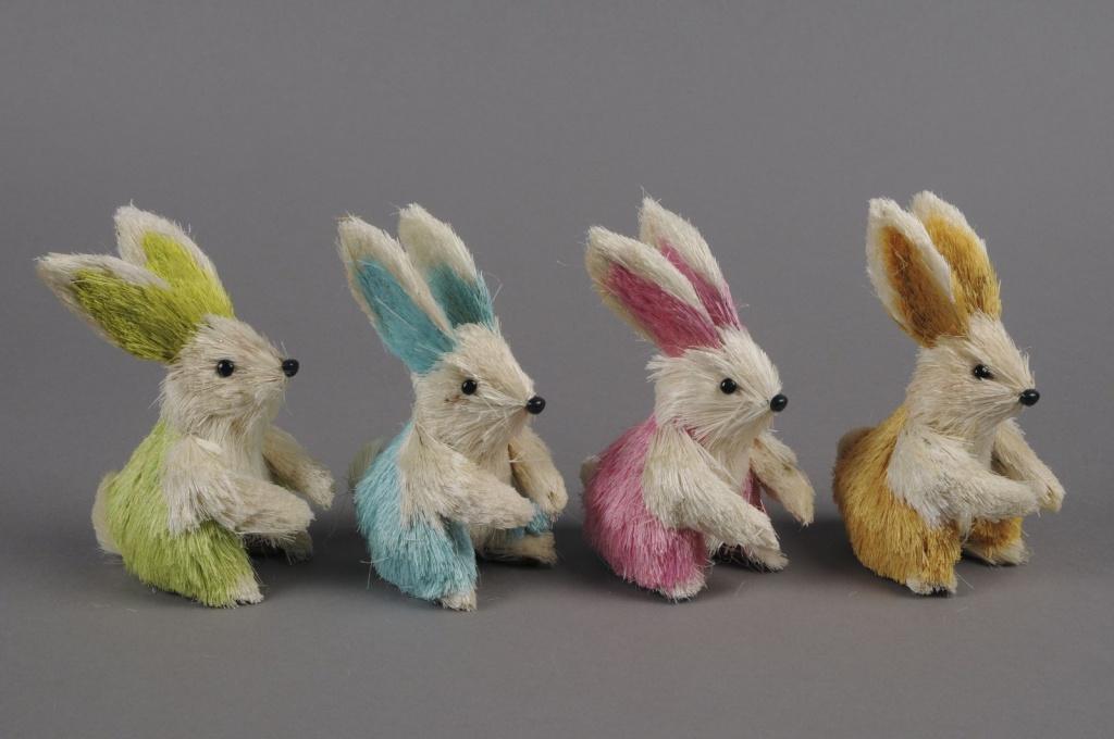 E007DZ Boîte de 4 lapins assortis