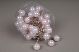 A131MG Boîte de 50 perles sur épingle rose20x90mm