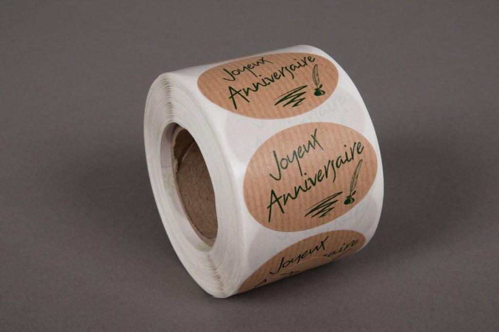 A021MQ Boîte de 500 étiquettes Joyeux anniversaire